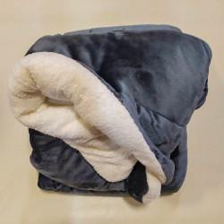 Κουβερτοπάπλωμα διπλό Σκούρο Γκρι